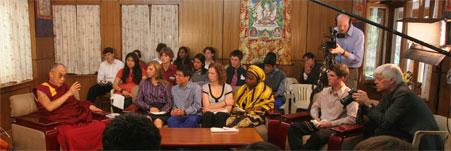 Project Happiness Students Meet the Dalai Lama