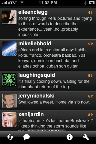 Twitterrific on an iPhone