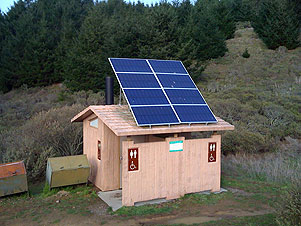 A solar outhouse